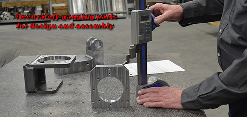 A&A Fabrication gauging machined parts